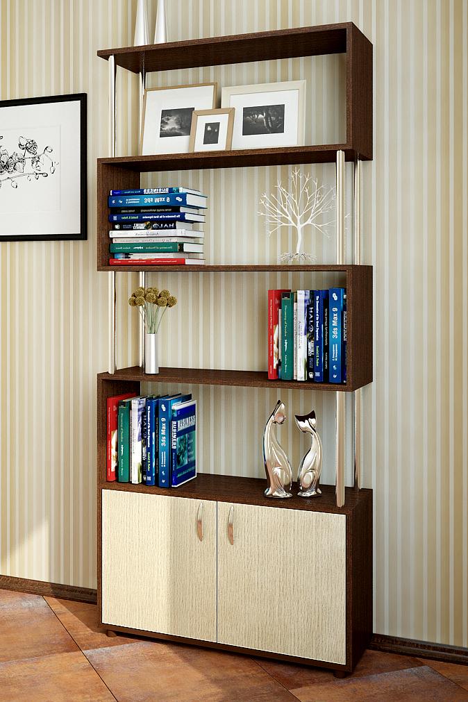"""Дубрава книжные шкафы и стеллажи стеллаж """"лабиринт-3"""" 1800*8."""